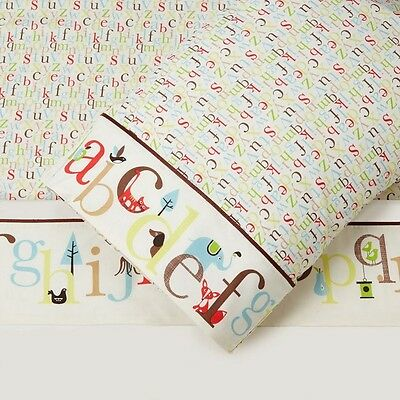 Skip*Hop Single 3 Piece Sheet Set - Alphabet Zoo
