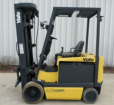 Yale Model ERC060GH  (2006) 6000lb Capacity Great 4 wheel Electric Forklift!