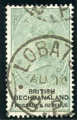 Bechuanaland 1887 QV 10s green & black very fine used. SG 19. Sc 20.