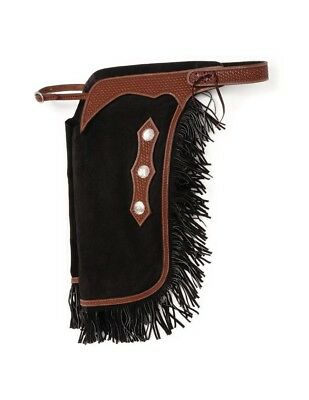Tough-1 Chaps Western Chinks Pre Suede Basketweave Cowhide 63-915