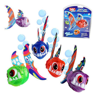 Kids Dive Grab Swimming Pool Water Game Light Up Fish Underwater Play Fetch Toy