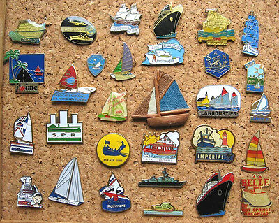 LOT 30 PIN'S DIFFÉRENTS thème : BATEAU MER VOILE / BOAT SAILING SEA  PINS PIN