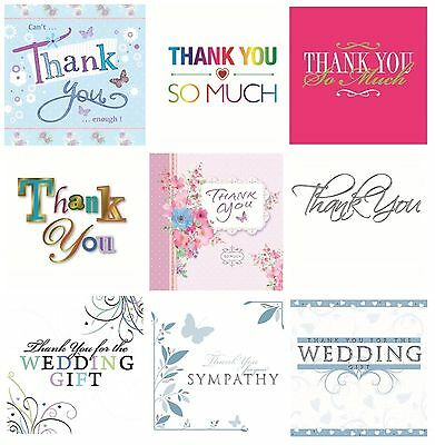 THANK YOU Note Cards & Envelopes -Range of Designs- Boy Male Girl Female Event 2