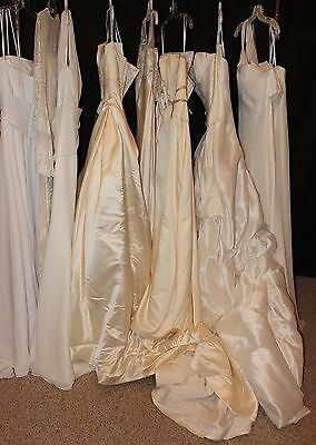 NWT LOT of 9 bridal gowns Sizes 6-16, variety designers, colors, styles, ALL NEW