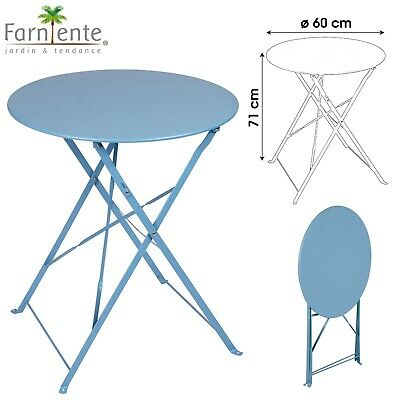 Table Ronde Esign Jardin Metal Bistro Cafe Salon Pliante Pliable Exterieur 351