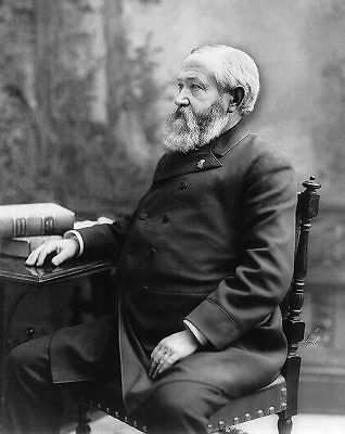 President Benjamin Harrison Seated Portrait 11x14 Silver Halide Photo Print