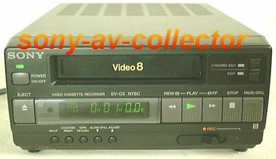 Sony EV-C3 Video8 8mm Video 8 Player Recorder VCR Deck REMOTE LN IN BOX