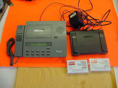 Dictaphone ExpressWriter 2750 Voice Processor w/ Hand Mic / Foot Pedal / PSU