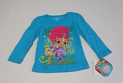NWT Girls Shimmer and Shine Magical Friends Long Sleeve Shirt sz 2t