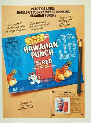 1973 Hawaiian Punch Fruit Punch - Vintage Magazine Ad Page - Coupon
