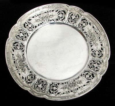 Fabulous J E Caldwell Reticulated Sterling Silver Under-Plate Service Charger