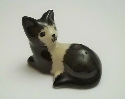 chat miniature en porcelaine,collection,animal,, cat, kat, poes,noir   tp15-13