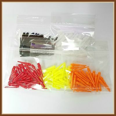 100 Pieces Colour Short Soft Safety Plastic Darts Tips Game Flights 2BA 25mm