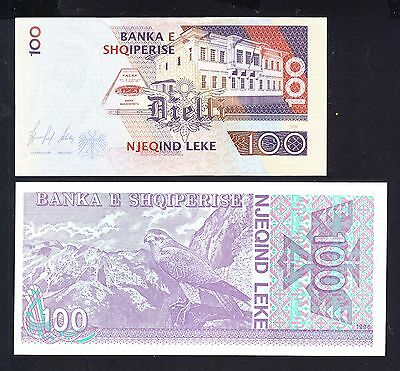 1996 Albania. 2x100 Leke. UNC. See the Picture.
