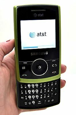 Samsung Propel SGH-A767 GREEN Cell Phone Slider Full Qwerty Keys AT&T Wireless C