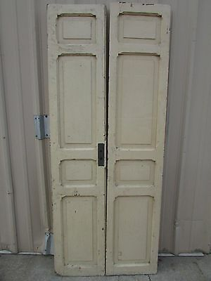 Antique Pair Mexican Old-Vintage-Primitive-Rustic-35x85-Barn Doors-Beige-White