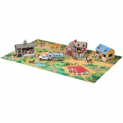 "Breyer Stablemates Play Mat Retiered 30x50"" comes with one stablemate horse 5951"