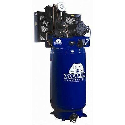 5 HP 2 Stage 3 Phase 120 Gallon Vertical Air Compressor