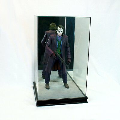 "1/4 Scale Comic Figurine Display Case 20"" Tall All Glass Black Wood Moulding"