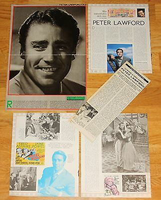 PETER LAWFORD 1960s/90s magazine articles uk actor photos cinema clippings