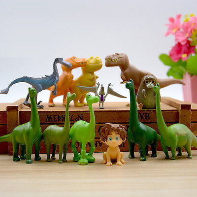 12pcs set Disney The Good Dinosaur Arlo Spot Budda Action Figure Toy Cake Topper