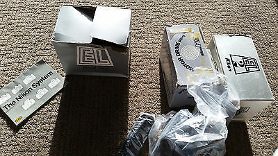 Nikon (Lot) EL2 35mm Camera, MD-11 Powerdrive & Leather Case