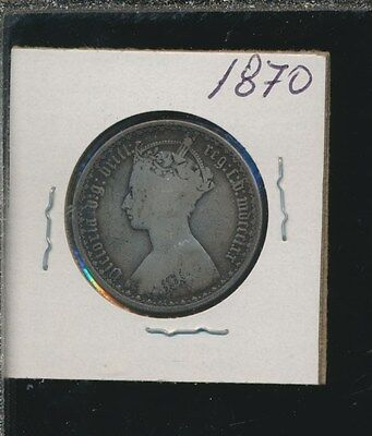 Great Britain  - Silver Florin - Gothic 1870