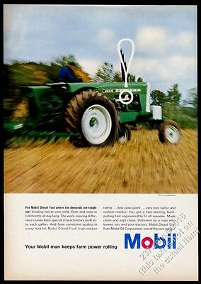 1967 Oliver 1850 tractor farm photo Mobil oil vintage print ad