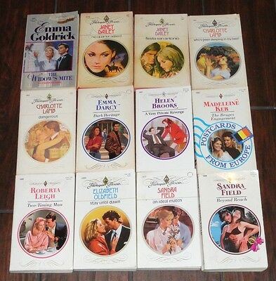 Lot of 12 vintage Harlequin Presents romance books