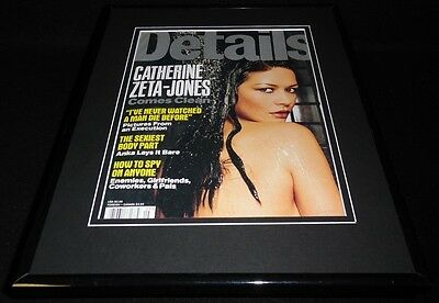 Catherine Zeta Jones Topless Framed 11x14 ORIGINAL 1999 Details Magazine Cover