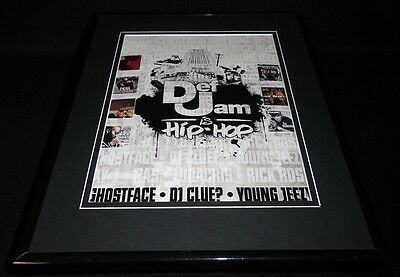 Def Jam 2007 Framed 11x14 ORIGINAL Vintage Advertisement Jay Z Rick Ross Nas