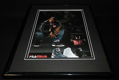 Nas 2008 Fila Italia Framed 11x14 ORIGINAL Vintage Advertisement