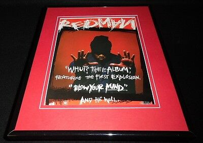 Redman 1992 Framed 11x14 ORIGINAL Vintage Advertisement Whut Thee Album