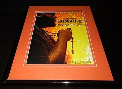 Rick Ross 2012 God Forgives I Don't Framed 11x14 ORIGINAL Advertisement