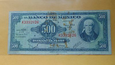 Mexico 500 Pesos 1974 Banknote Paper Currency