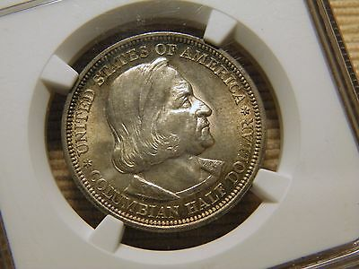 1893 COLUMBIAN 50c NGC MS 64 CHOICE LOOKS BETTER IN HAND