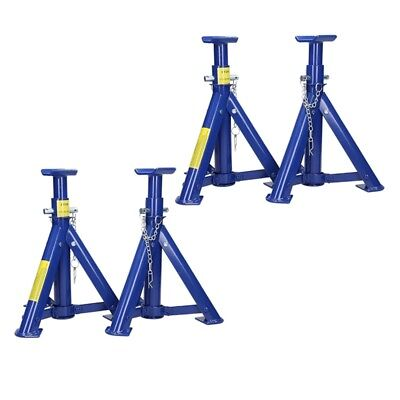 Set 4 Pieces Adjustable Sealey Folding Axle Stands Axle Jacks 3 Tonne Per Stand