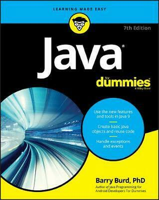 Java for Dummies, 7th Edition by Barry A. Burd Paperback Book Free Shipping!