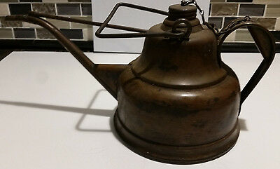 Rare Vintage Brass Blickman, New York--Lighthouse Type Oil Filling Can