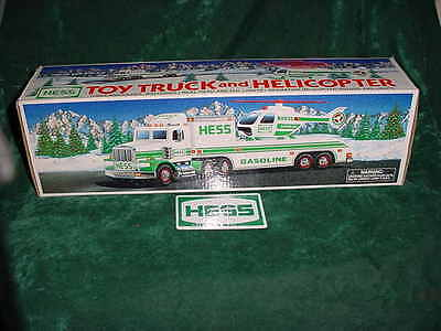 Easter Holiday  Gift 1995 Hess Toy Truck And Helicopter Truck Toys Truck Mint