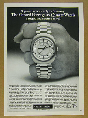 1972 Girard Perregaux Quartz Watch photo vintage print Ad