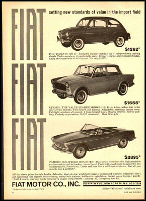 1964 vintage ad for Fiat 600 automobiles and others-794