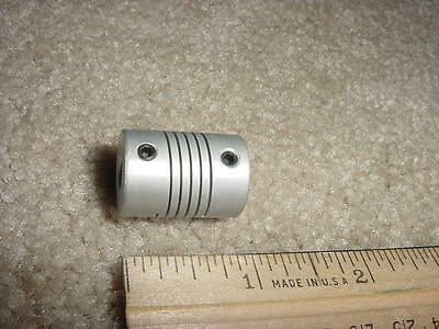 Coupling, Flexible shaft, 6mm to 6.35mm (1/4 inch) - NEW