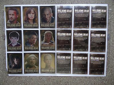 walking dead season 2 Character Bios chase set made by Cryptozoic