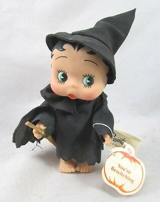 "Be Witching Baby Betty Boop Witch Halloween  5"" Doll Vinyl Jointed Tagged 1990"