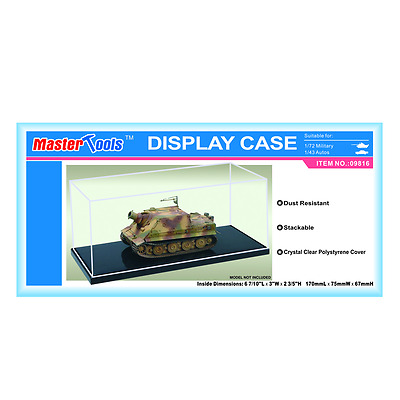 Master Tools Scale Display Case for 1/72 and1/43 scale Military Vehicles