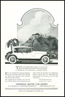 1926 vintage ad for Thompson Motor Car Bodies