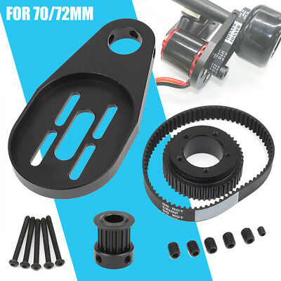 DIY Electric Skateboard Parts Pulleys Belt + N5065 Motor Mount For 72/70MM Wheel