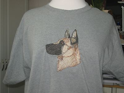 New Belgian Malinois Dog Head Embrodered T-Shirt Add A Name For Free
