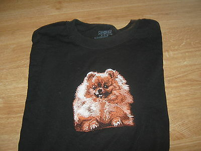 New Pomeranian Embroidered T-Shirt Add Name For Free